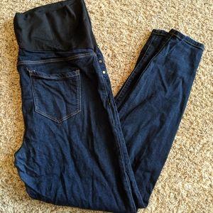 High waisted dark blue maternity jeans sz 14